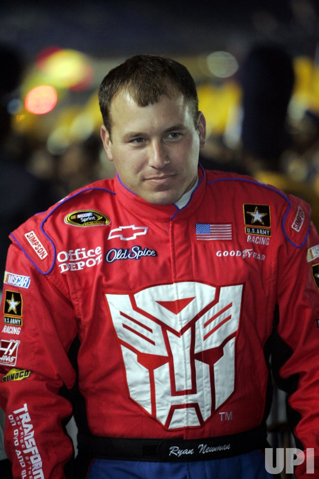 NASCAR driver Ryan Newman before the Banking 500 race at Lowe's Motor Speedway in Concord, North Carolina