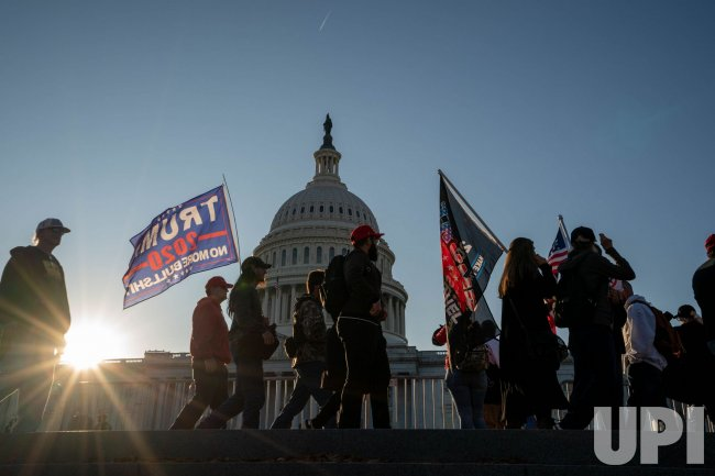 Pro Turmp Supporters March By U.S. Capitol