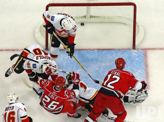 NHL Hockey Calgary Flames vs Carolina Hurricanes in Raleigh