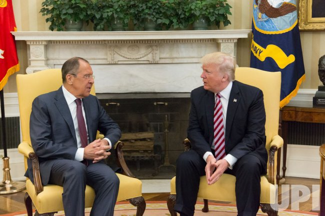 President Donald Trump meets with Russian Foreign Minister Sergey Lavrov at the White House