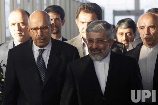 Head of the International Atomic Energy Agency Mohamed ElBaradei arrives in Tehran