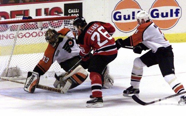 Flyers' goalie Brian Boucher
