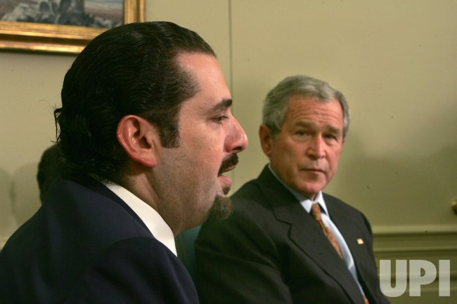 U.S. PRESIDENT BUSH MEETS WITH HARIRI IN WASHINGTON