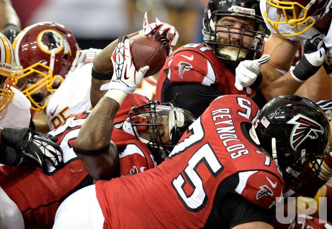 The Atlanta Falcons play the Washington Redskins