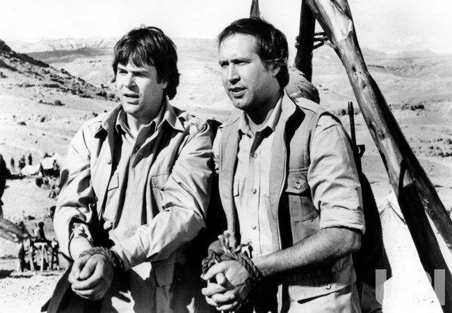 "DAN ACROYD AND CHEVY CHASE IN ""SPIES LIKE US"""