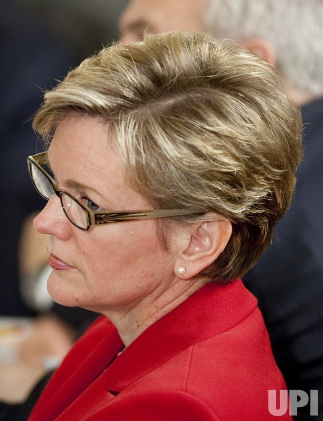 Michigan Gov. Granholm attends National Governors Association meeting at the White House in Washington