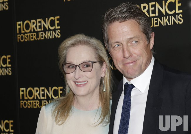 Hugh Grant and Meryl Streep at Foster Jenkins Premiere