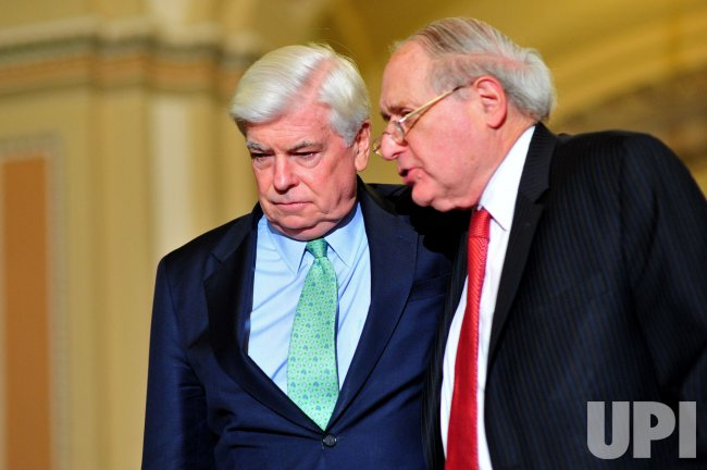 Sen. Chris Dodd (D-CT) and Sen. Carl Levin (D-MI) in Washington