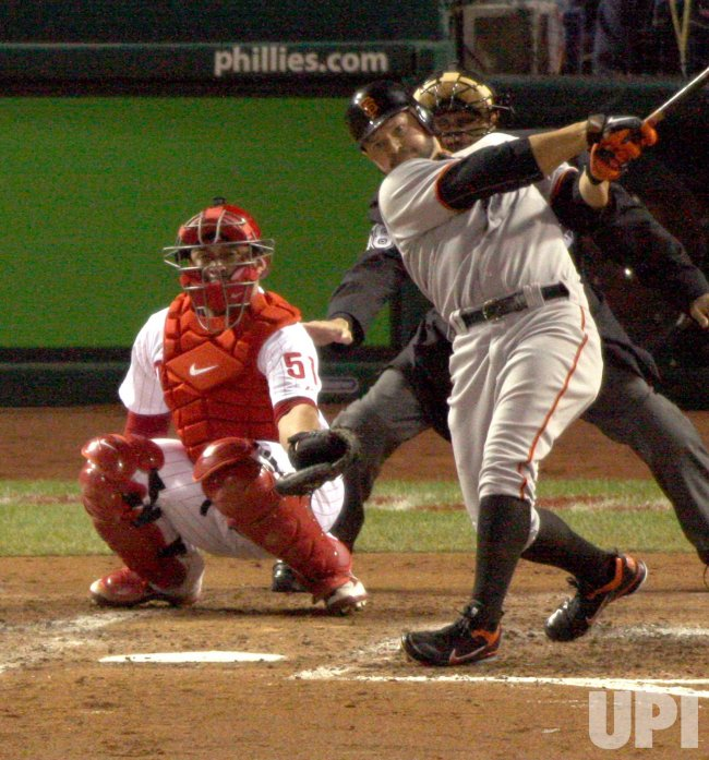 San Francisco Giants Cody Ross homers in the 5th inning.