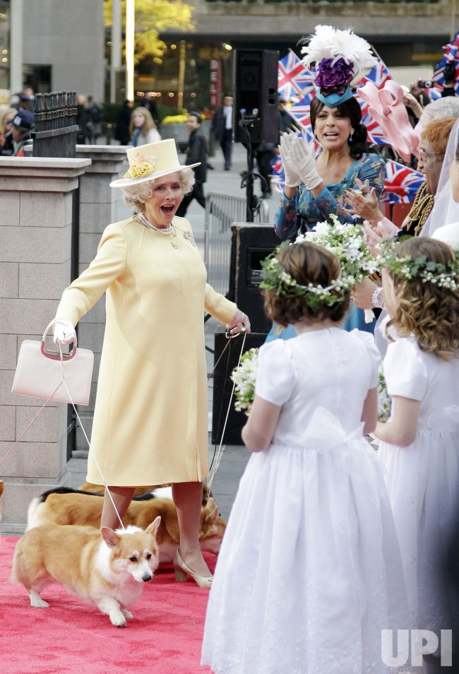 """Meredith Vieira dresses as Queen Elizabeth at NBC's """"Today"""" 2011 Halloween Celebration at Rockefeller Center in New York"""