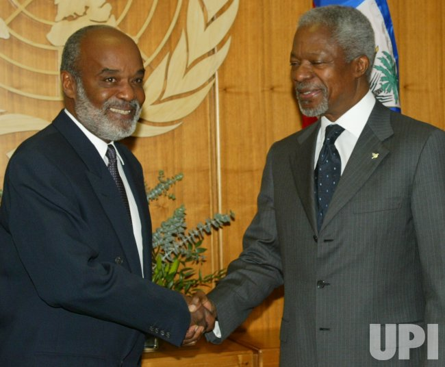 UN SECURITY COUNCIL MEETS HAITI'S PRESIDENT ELECT