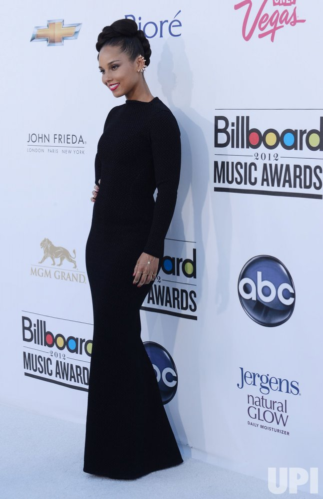 Alicia Keys arrives at the 2012 Billboard Music Awards in Las Vegas, Nevada