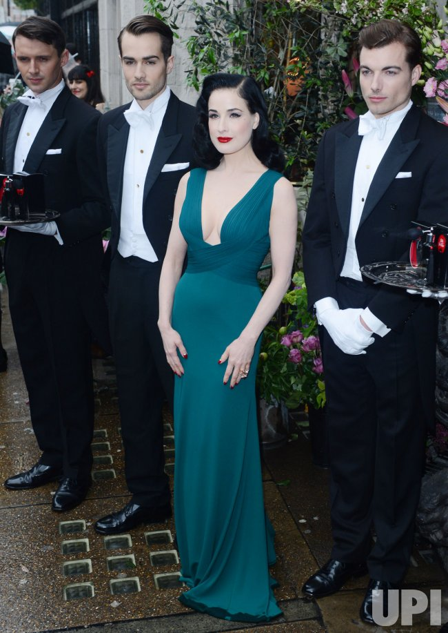 Dita Von Teese attends a photo call in London