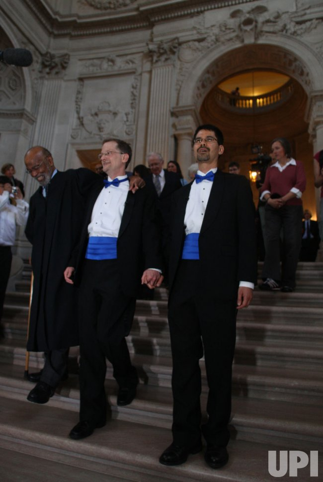 Gay weddings commence in California