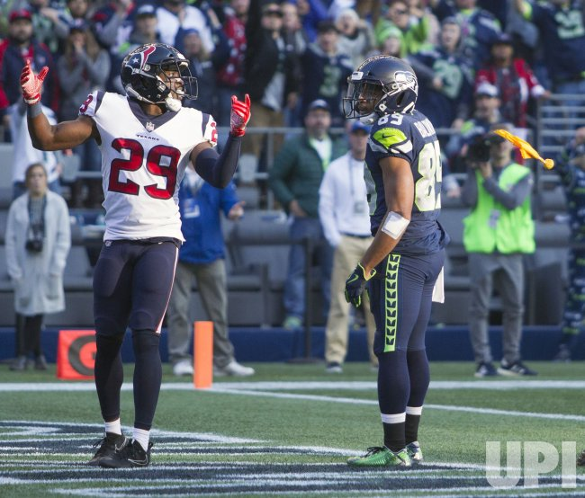 Seattle Seahawks come from behind to beat the Houson Texans 41-38 in Seattle