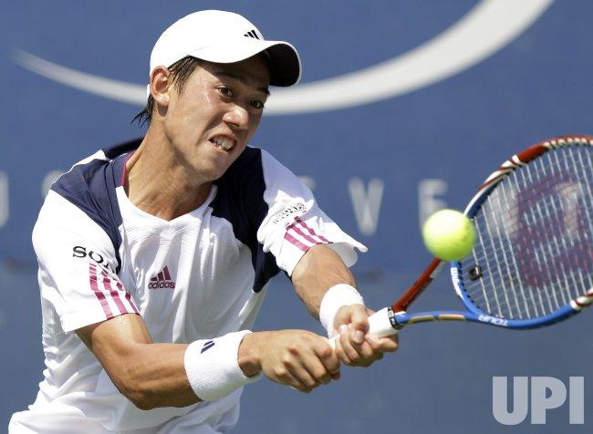 Kei Nishikori of Japan at the U.S. Open Tennis Championships in New York