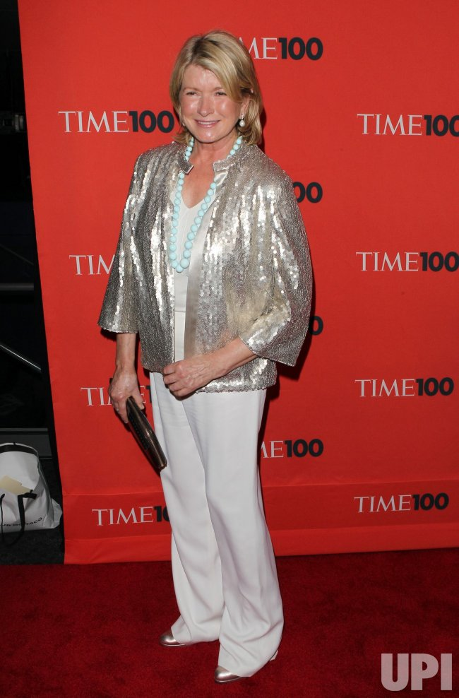 Martha Stewart arrives at Time Magazines 100 Most Influential People Gala at the Time Warner Center in New York