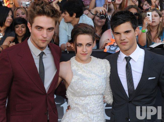 "Robert Pattinson, Kristen Stewart and Taylor Lautner attend the ""The Twilight Saga: Eclipse"" premiere in Los Angeles"