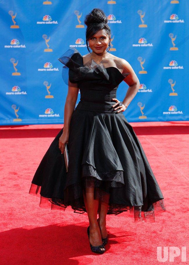 Mindy Kaling arrives at the 62nd Primetime Emmy Awards in Los Angeles