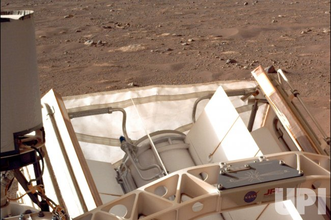 Closeup of 'Send Your Name to Mars' Chips on NASA's Perseverance Mars Rover