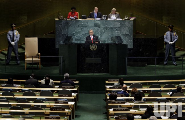 Sebastian Pinera Echenique at the 65th United Nations General Assembly at the UN in New York