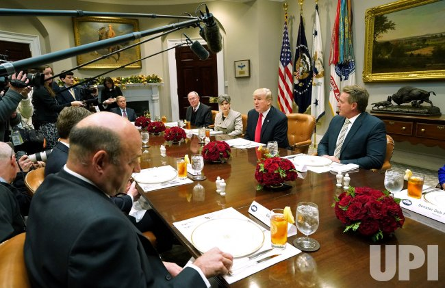 President Trump host GOP Senators for a lunch at the White House