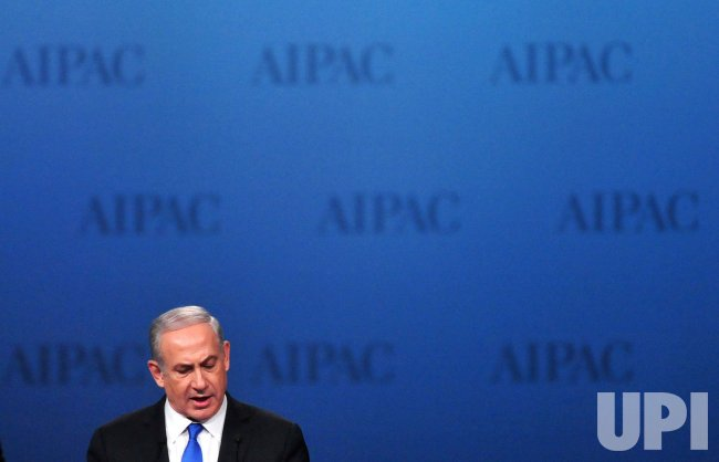 Israeli Prime Minister Benjamin Netanyahu speaks at the AIPAC in Washington