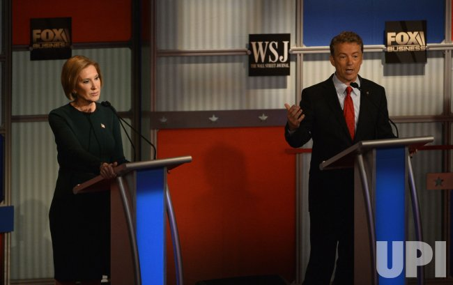 Republican Presidential Hopefuls Fiorina and Paul at 4th Debate