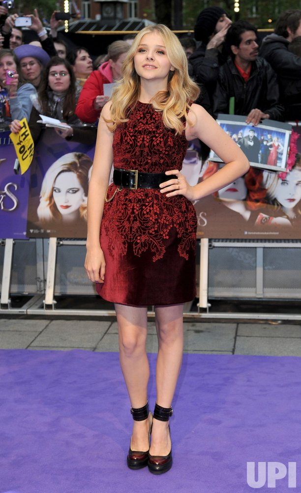 "Chloe Moretz attends the European premiere of ""Dark Shadows"" in London."