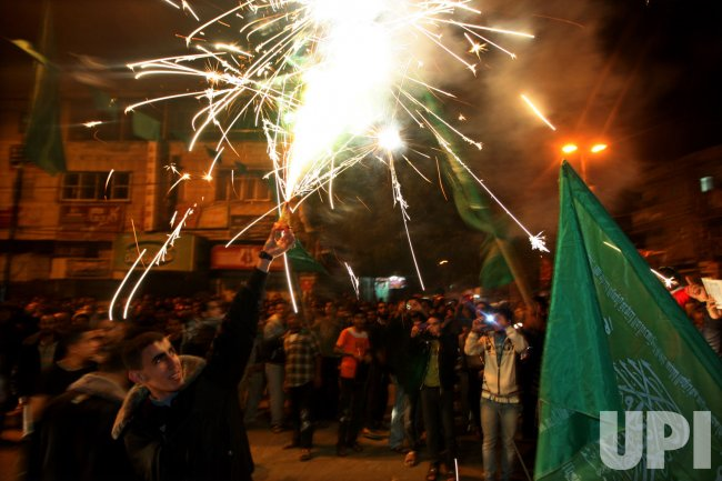 Palestinians Celebrate Sponsored Ceasefire with Israel