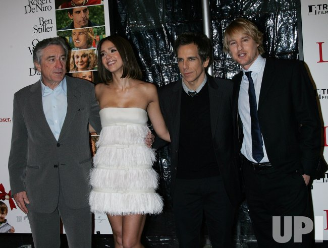 "Ben Stiller, Jessica Alba, Robert DeNiro and Owen Wilson arrive for the Premiere of ""Little Fockers"" at the Ziegfeld Theater in New York"