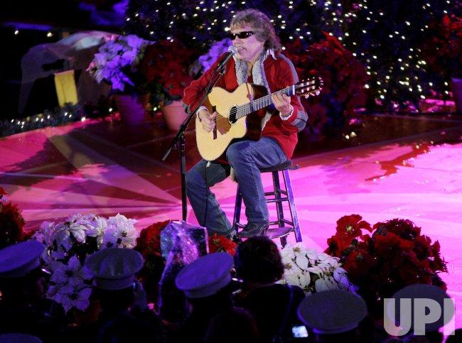 Jose Feliciano performs at Rockefeller Center Christmas tree lighting ceremony in New York