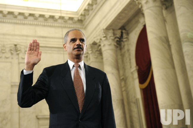 Eric Holder Testifies During his Attorney General Confirmation Hearing in Washington