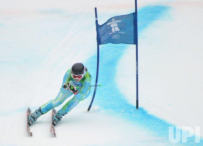Slovenia's Tina Maze wins silver in the Women's Giant Slalom in Whistler