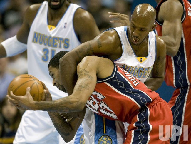 Nuggets Billups Fouls Nets Douglas-Roberts in Denver