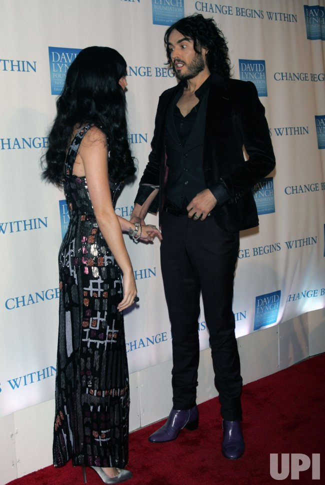"Katy Perry and Russell Brand arrive for the 2nd Annual ""Change Begins Within"" Benefit in New York"