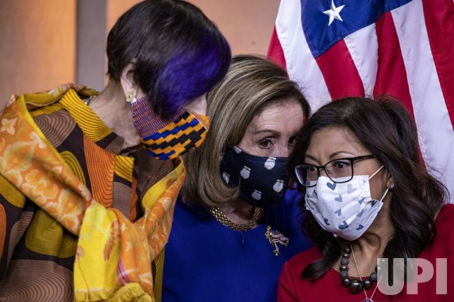 Speaker Pelosi News Conference On Paycheck Fairness Act