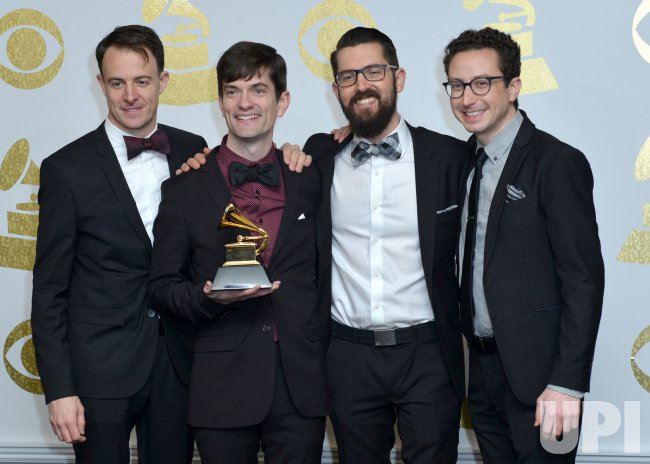 Third Coast Percussion wins an award at the 59th annual Grammy Awards in Los Angeles