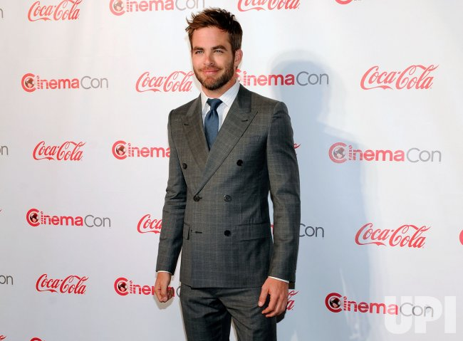 Chris Pine arrives at the 2013 CinemaCon Awards Ceremony in Las Vegas