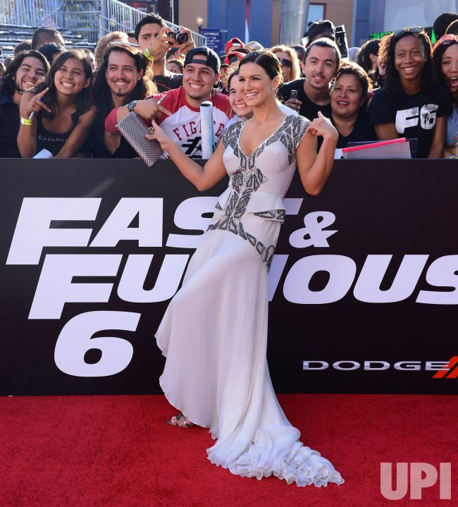 "Gina Carano attendS the ""Fast & Furious 6"" premiere in Llos Angeles"