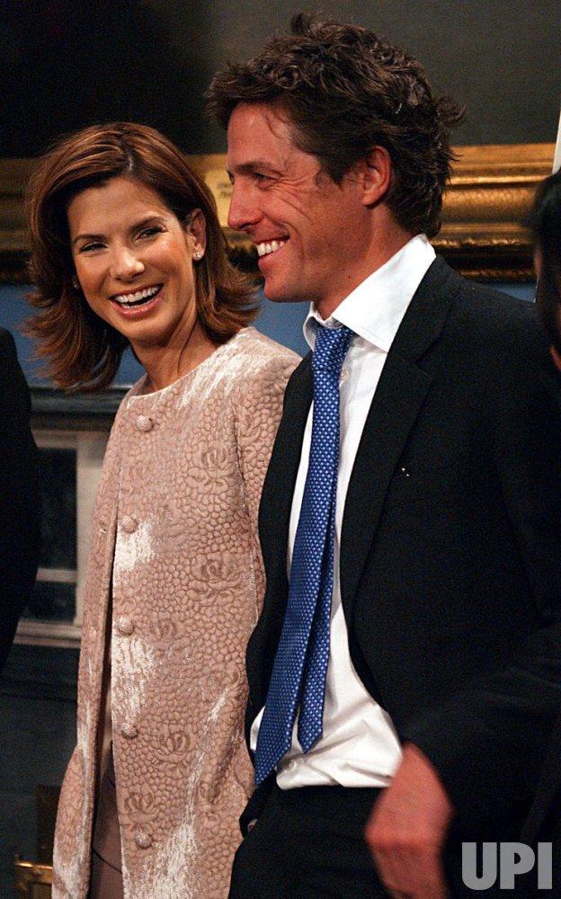 Sandra Bullock and Hugh Grant honored by New York City's Mayor Bloomberg