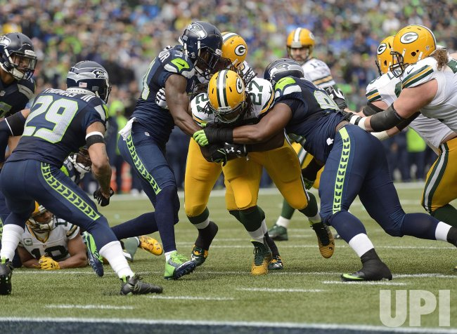 Seattle Seahawks play Green Bay Packers for NFC Championship in Seattle