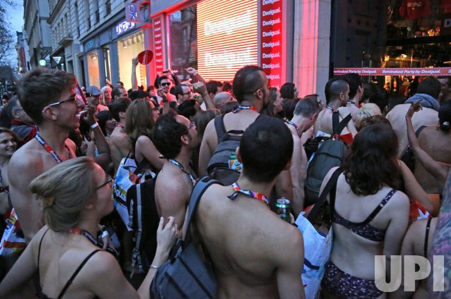 Desigual Semi-naked Party in Paris