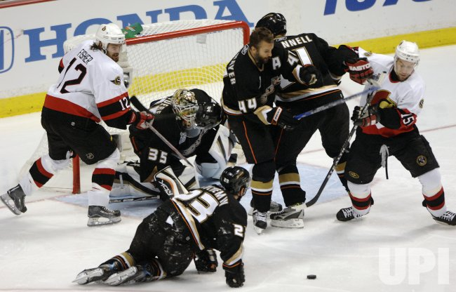 OTTAWA SENATORS VS ANAHEIM DUCKS STANLEY CUP FINAL