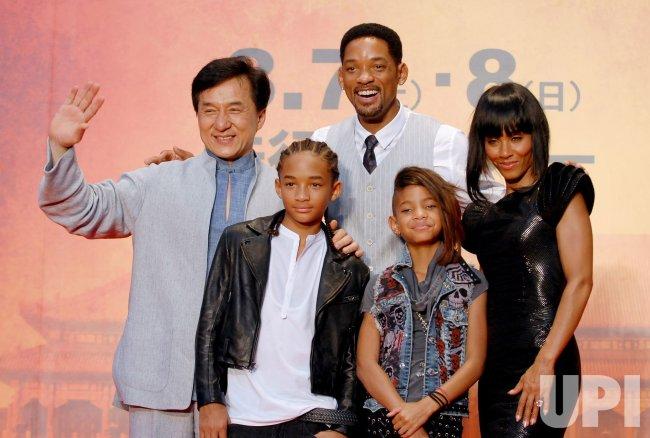 """""""The Karate Kid"""" Japan premiere"""