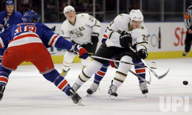 The Dallas Stars Loui Eriksson against the New York Rangers at Madison Square Garden