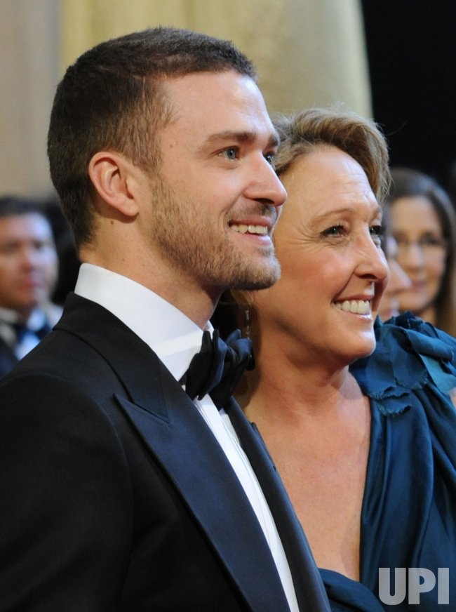 Justin Timberlake and his mother Lynn Harless arrive at the 83rd annual Academy Awards in Hollywood