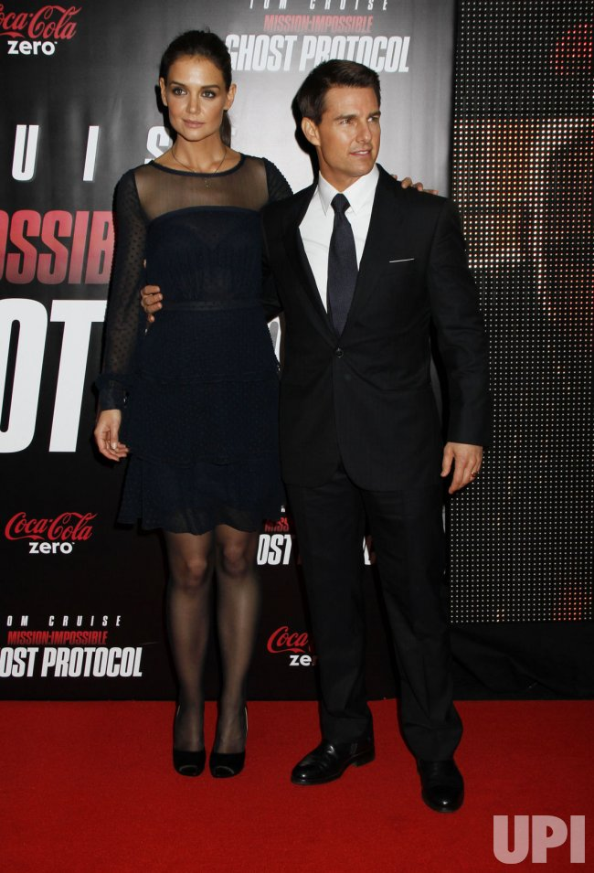 "Tom Cruise and Katie Holmes arrive for the ""Mission:Impossible Ghost Protocol"" Premiere in New York"