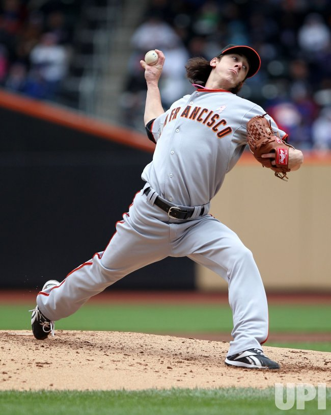 San Francisco Giants starting pitcher Tim Lincecum throws a pitch at Citi Field in New York
