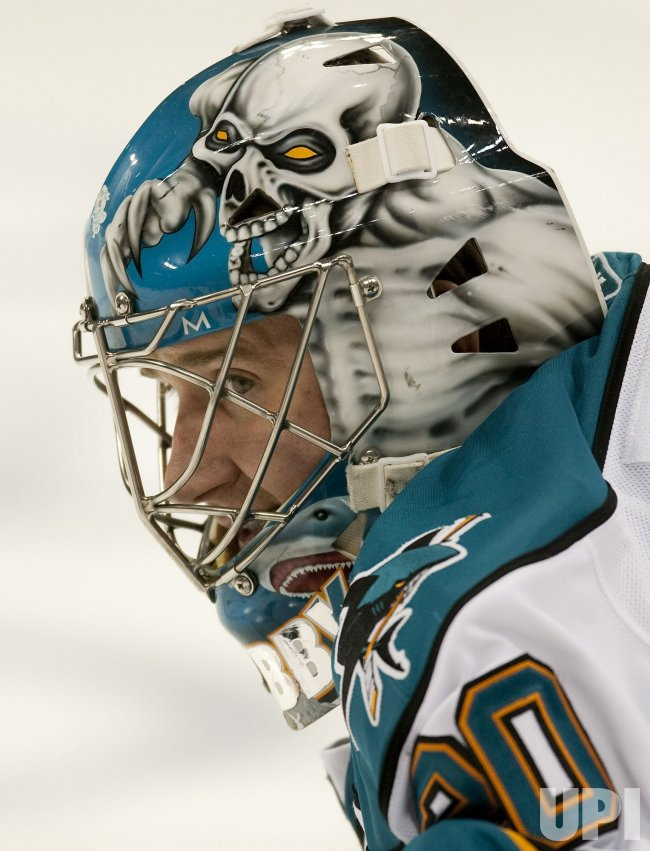Sharks Nabokov Watches Opponents in Denver